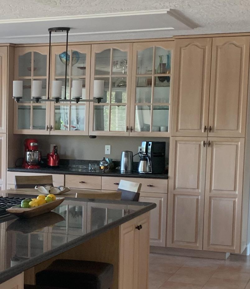 How to paint glass cabinet doors