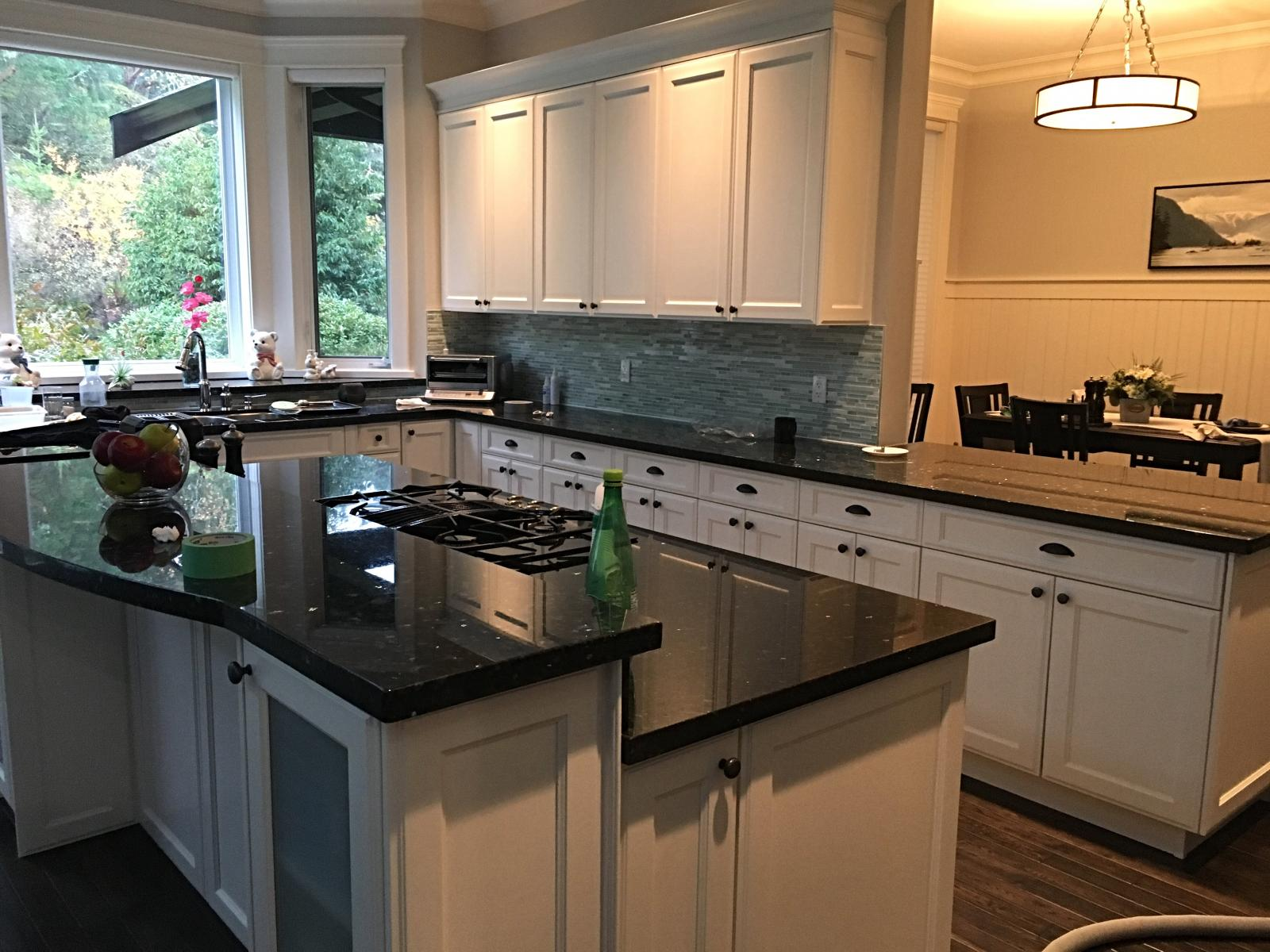 Langford BC kitchen cabinets refinishing- Bear Mountain