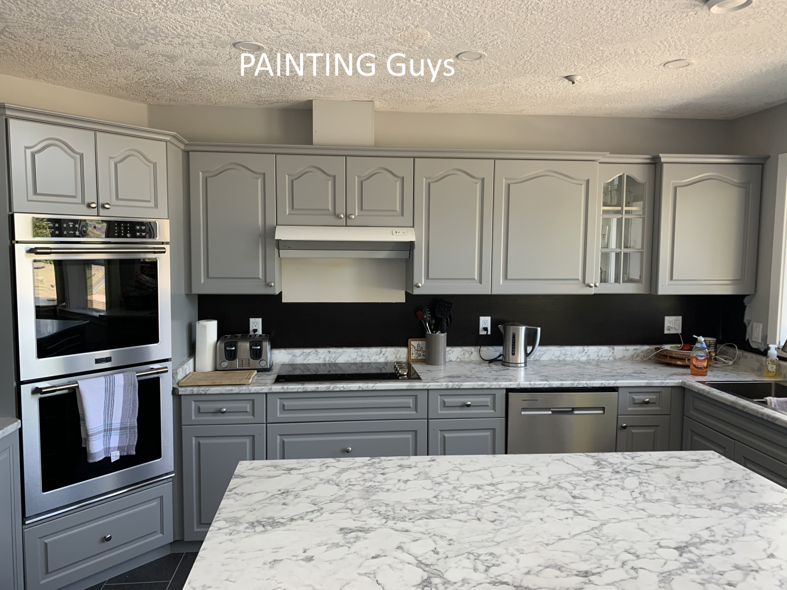Cowichan Bay kitchen cabinet painting