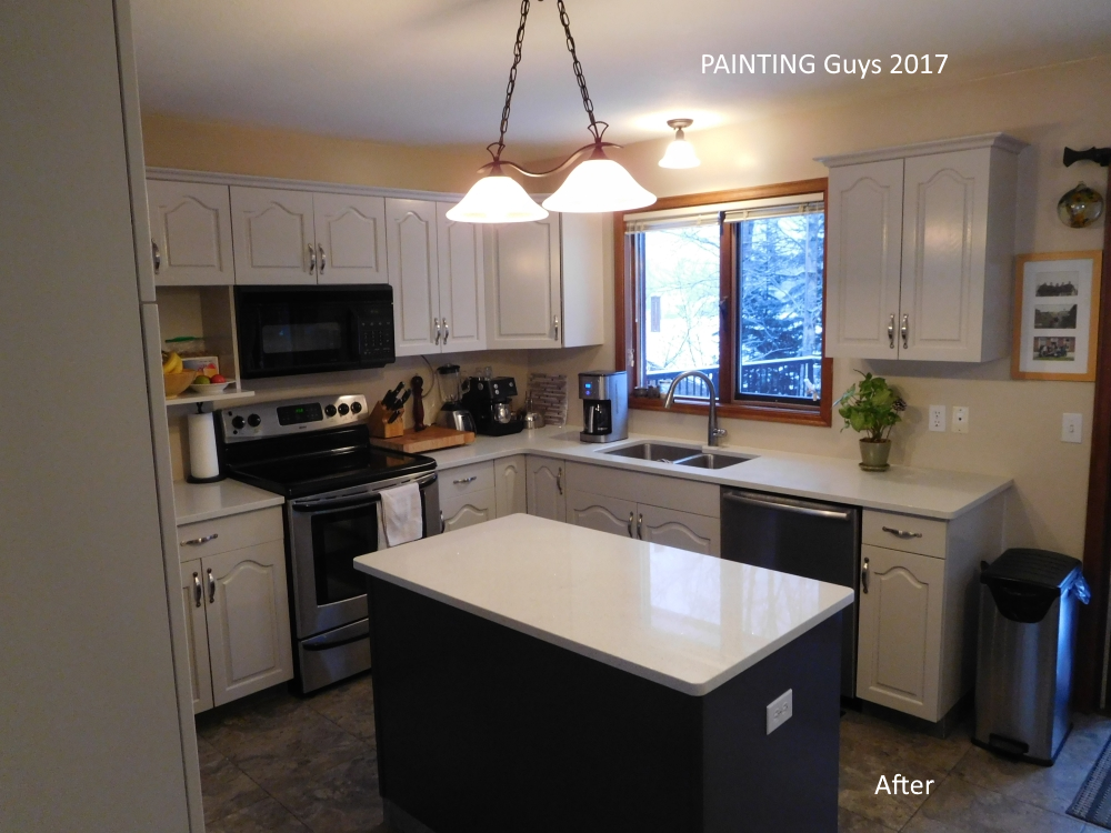 Grey Oak Cabinets - Painting Guys Prince George, BC