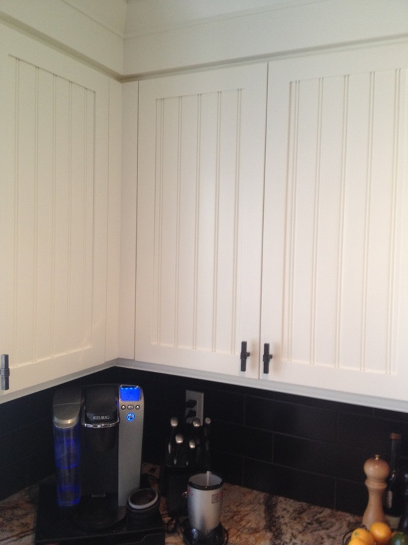 Refinished mahogany kitchen hausslers kitchens cabinet refinishing - Wainscot Cabinet Restoration Painting Guy