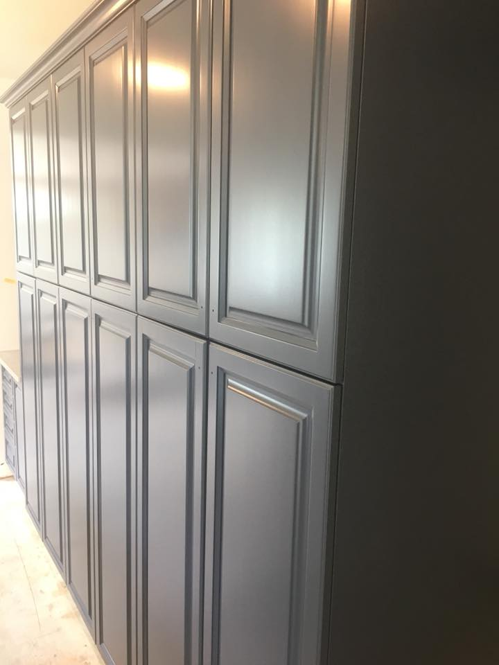 Hale Navy - Maple Cabinets