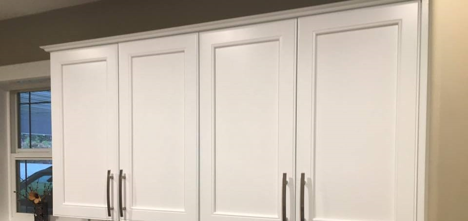 Repainted maple cabinets -PAINTING Guys