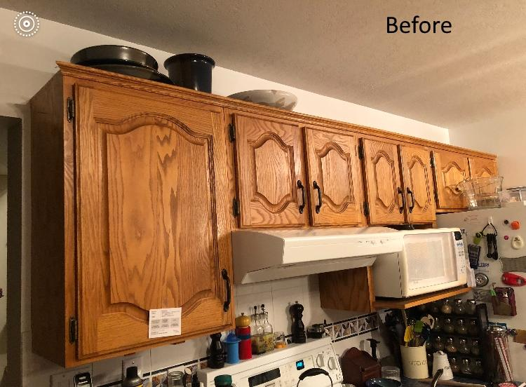 Oak kitchen cabinet painting - PAINTING Guys