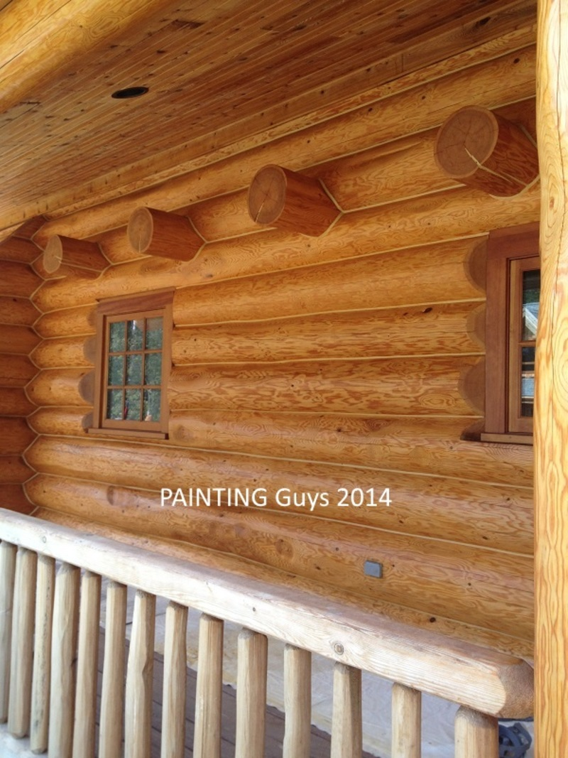 Prince George Log Home Staining Contractor