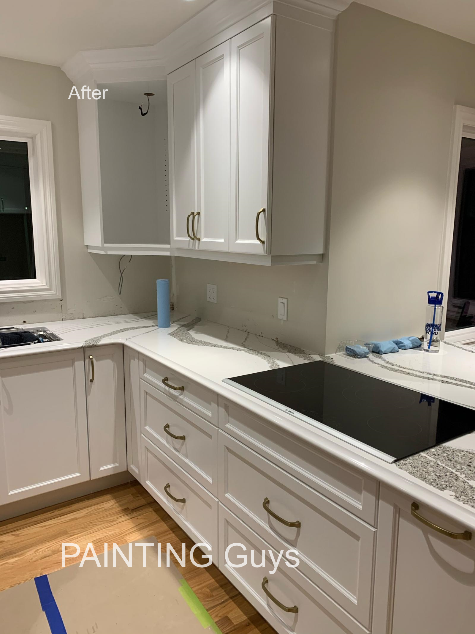 Saanich kitchen cabinet painting, PAINTING Guys