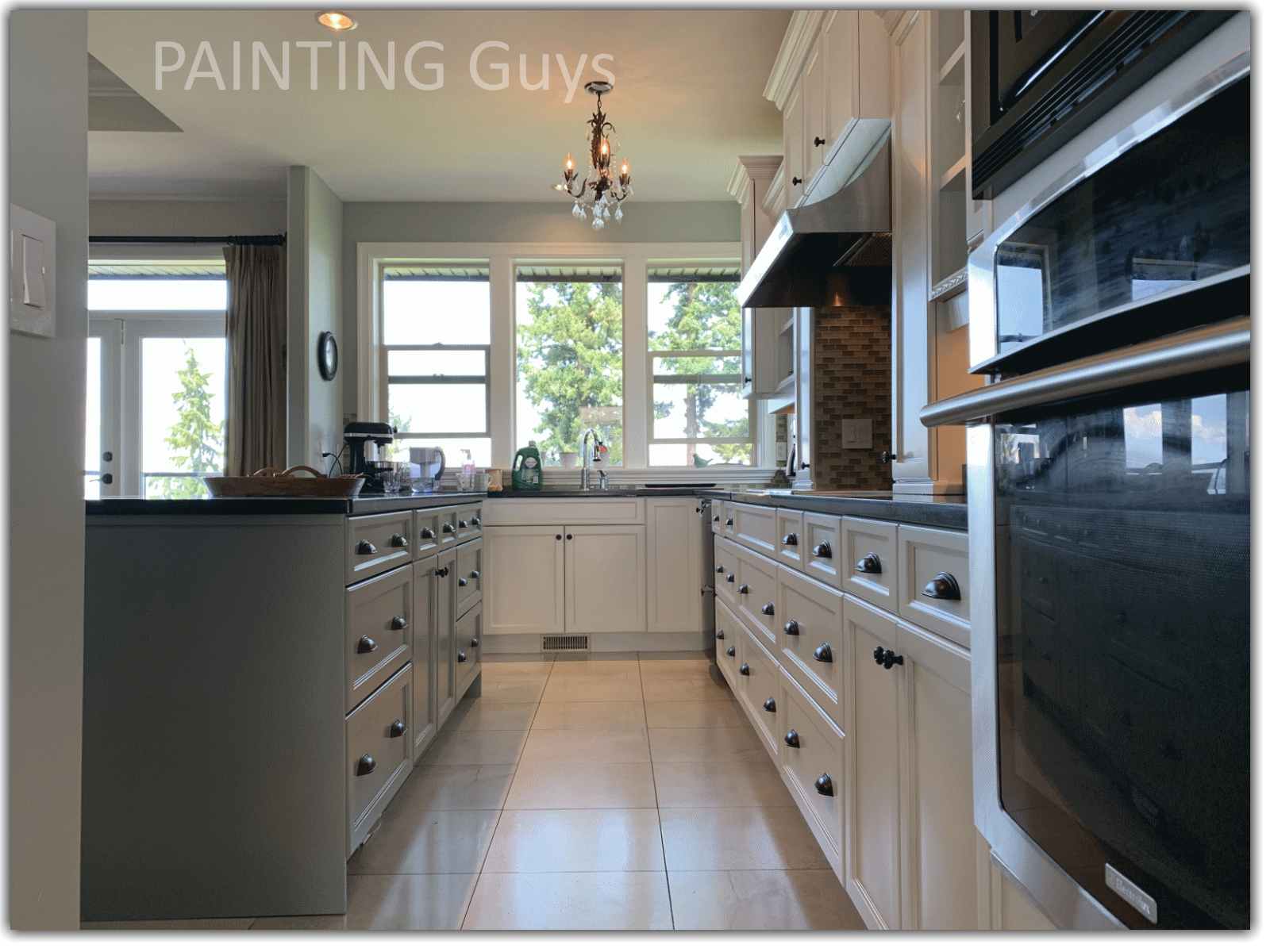two-tone kitchen cabinet painting