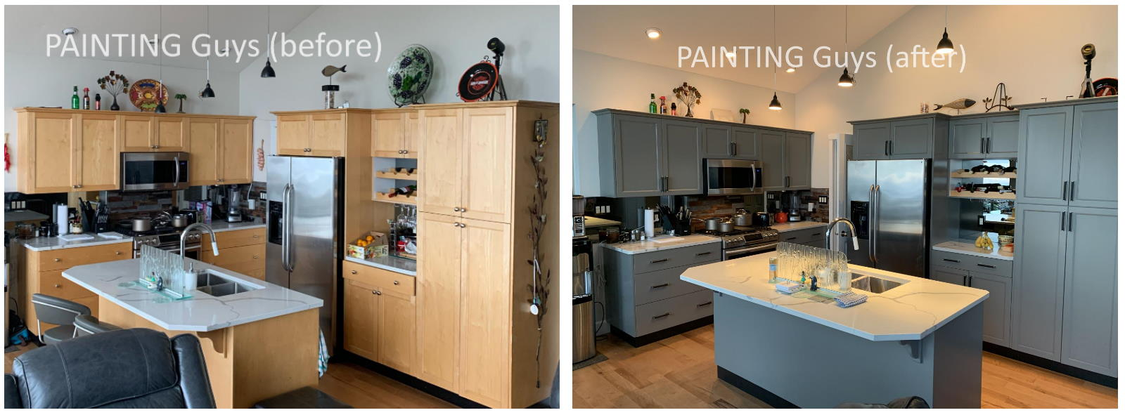 Kitchen Cabinet Painting Victoria Duncan Nanaimo Qualicum Parksville