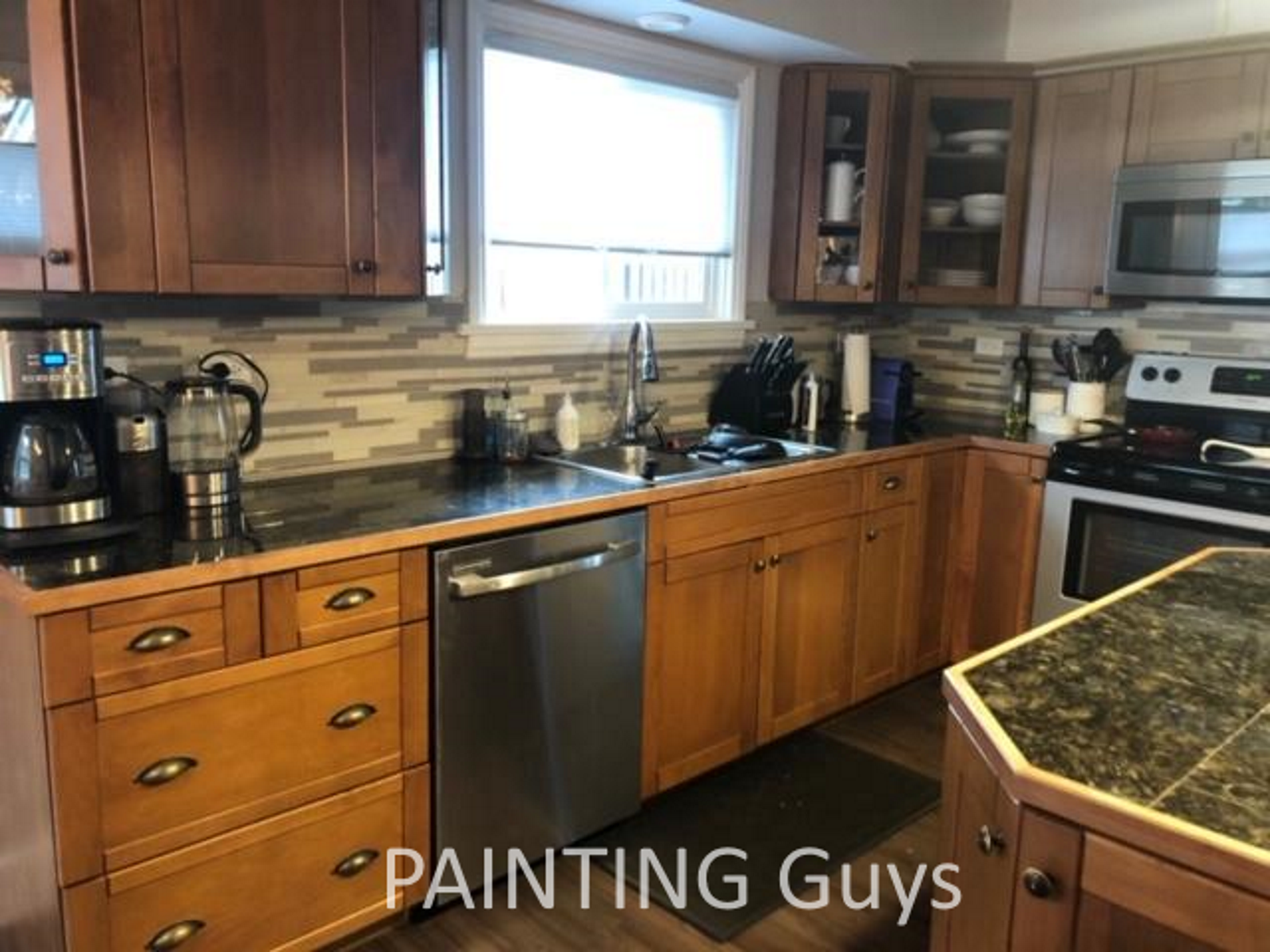 Port Alberni kitchen cabinet painting