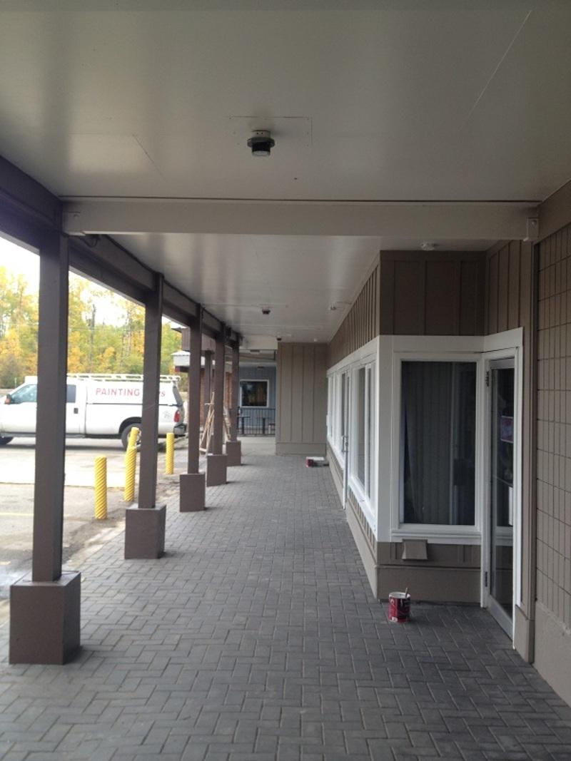 example of the Fraser Lake Mall painted by the Painting Guys