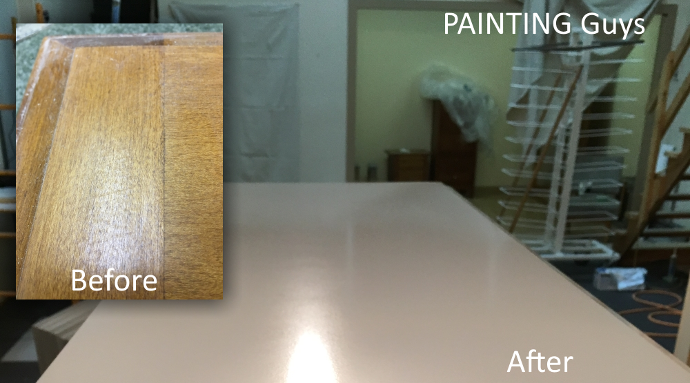 Maple cabinet Painting - PAINTING Guys