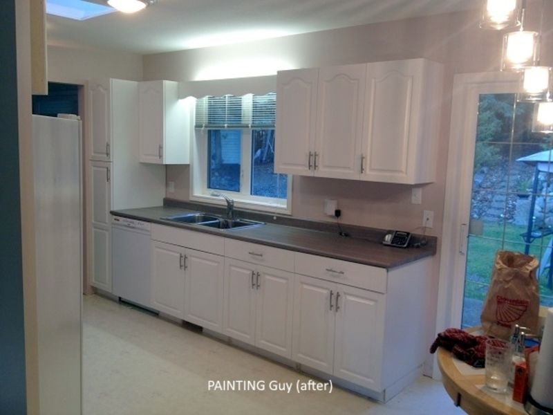 Painting oak cabinets painting guys for 1990 kitchen cabinets