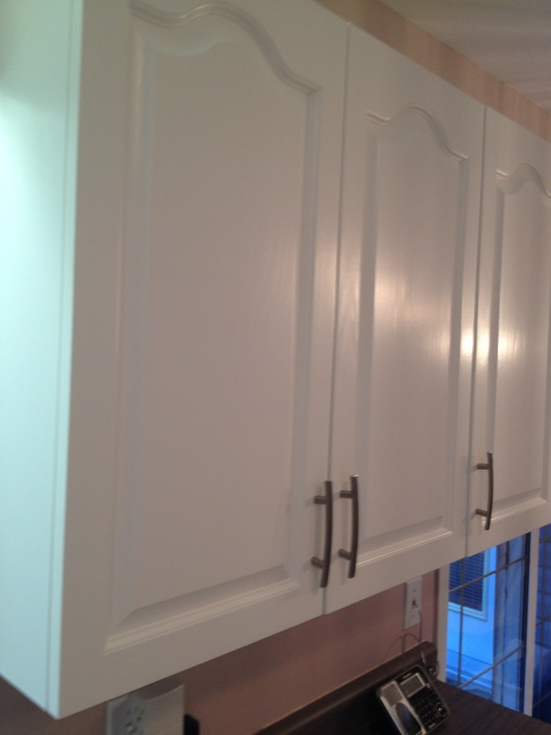 Painted oak kitchen cabinet doors