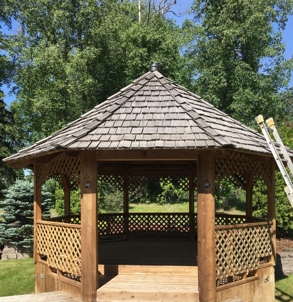 Gazebo Staining Painting Guys