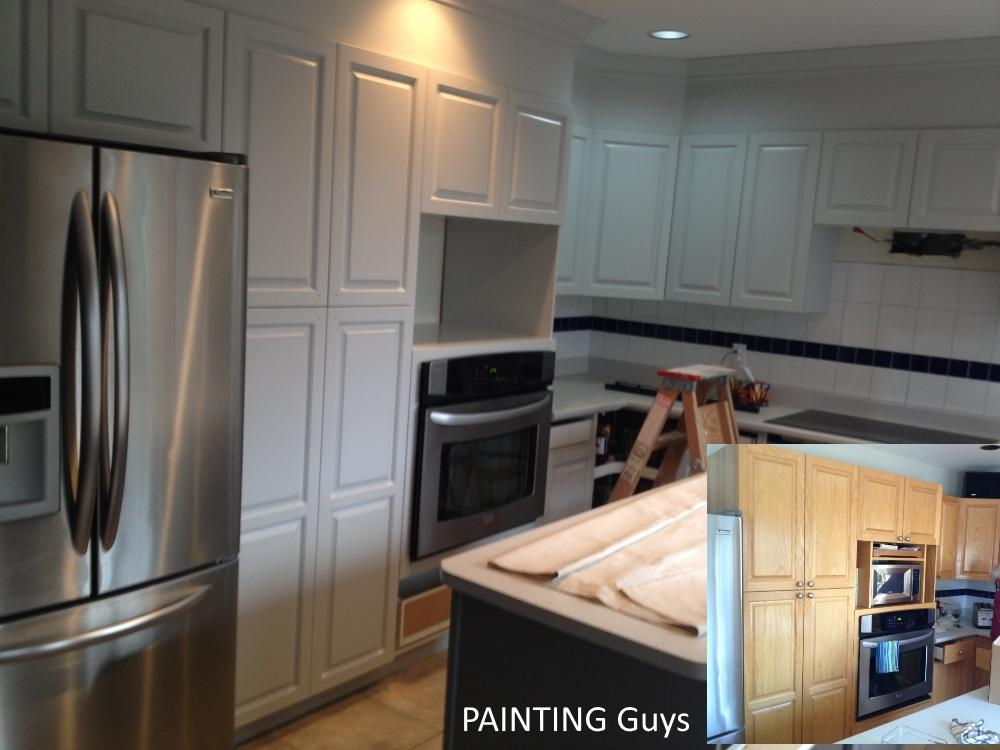 example of our painted oak kitchen cabinets