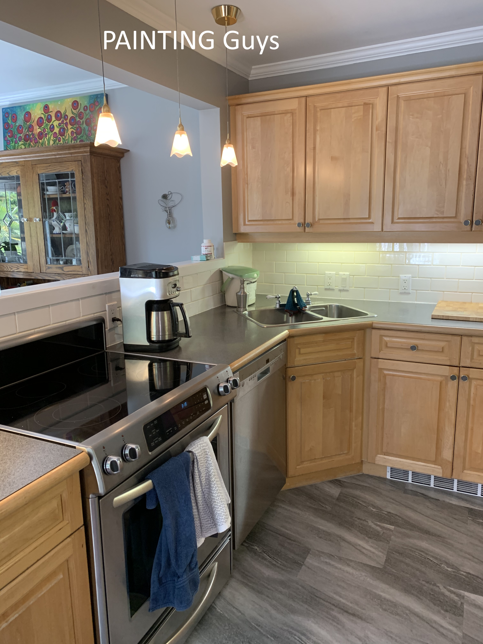 kitchen cabinet painting - Victoria BC