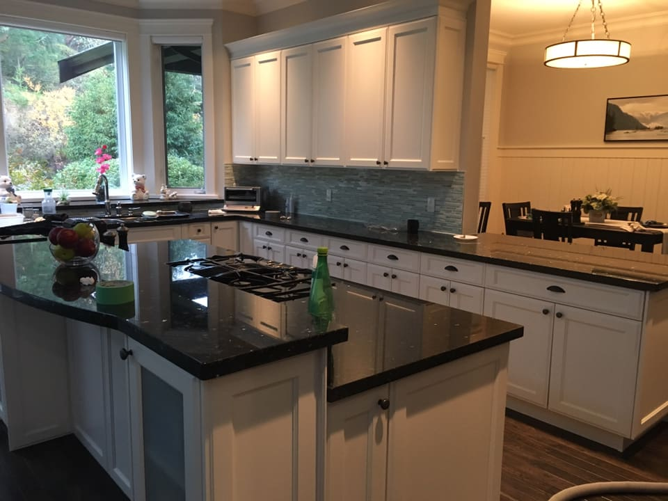 Kitchen Cabinet Painting - Victoria BC Canada