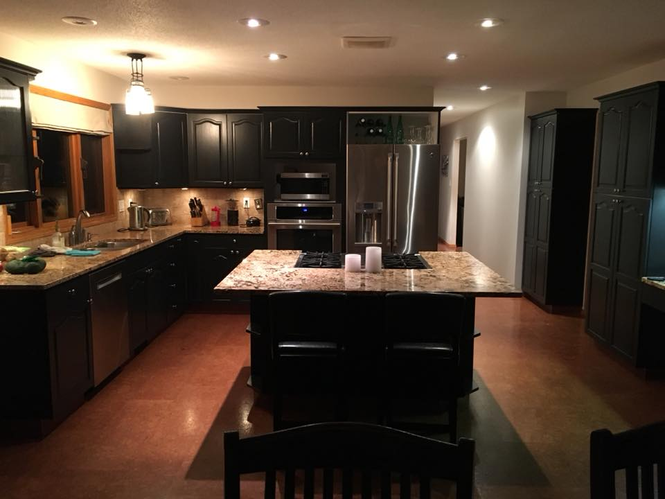 Black Kitchen refinished by PAINTING Guys