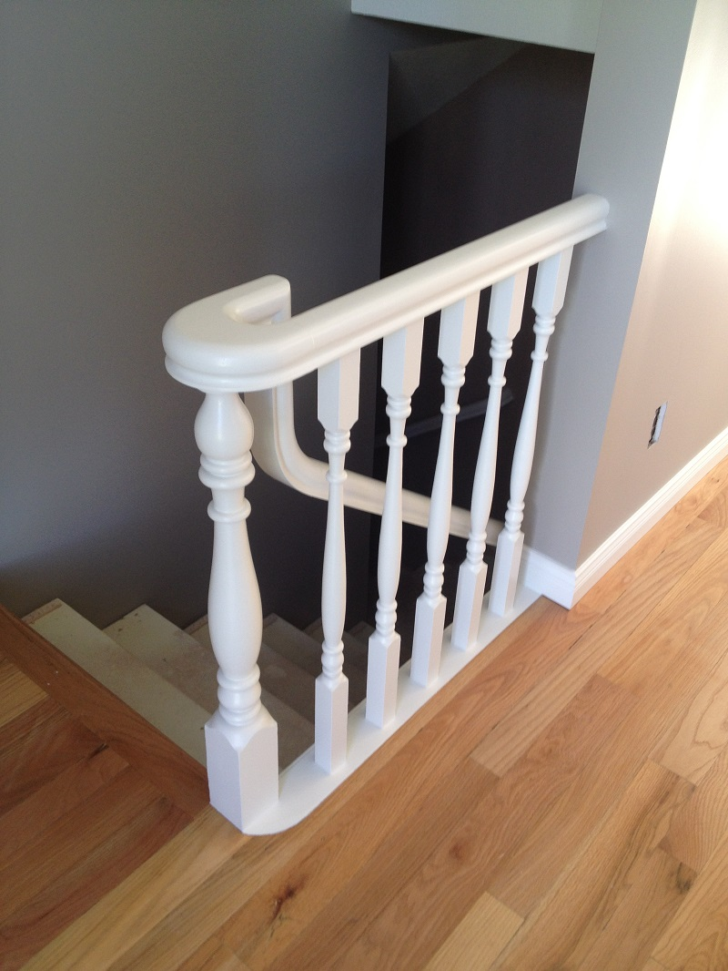 Prince George railings painted white