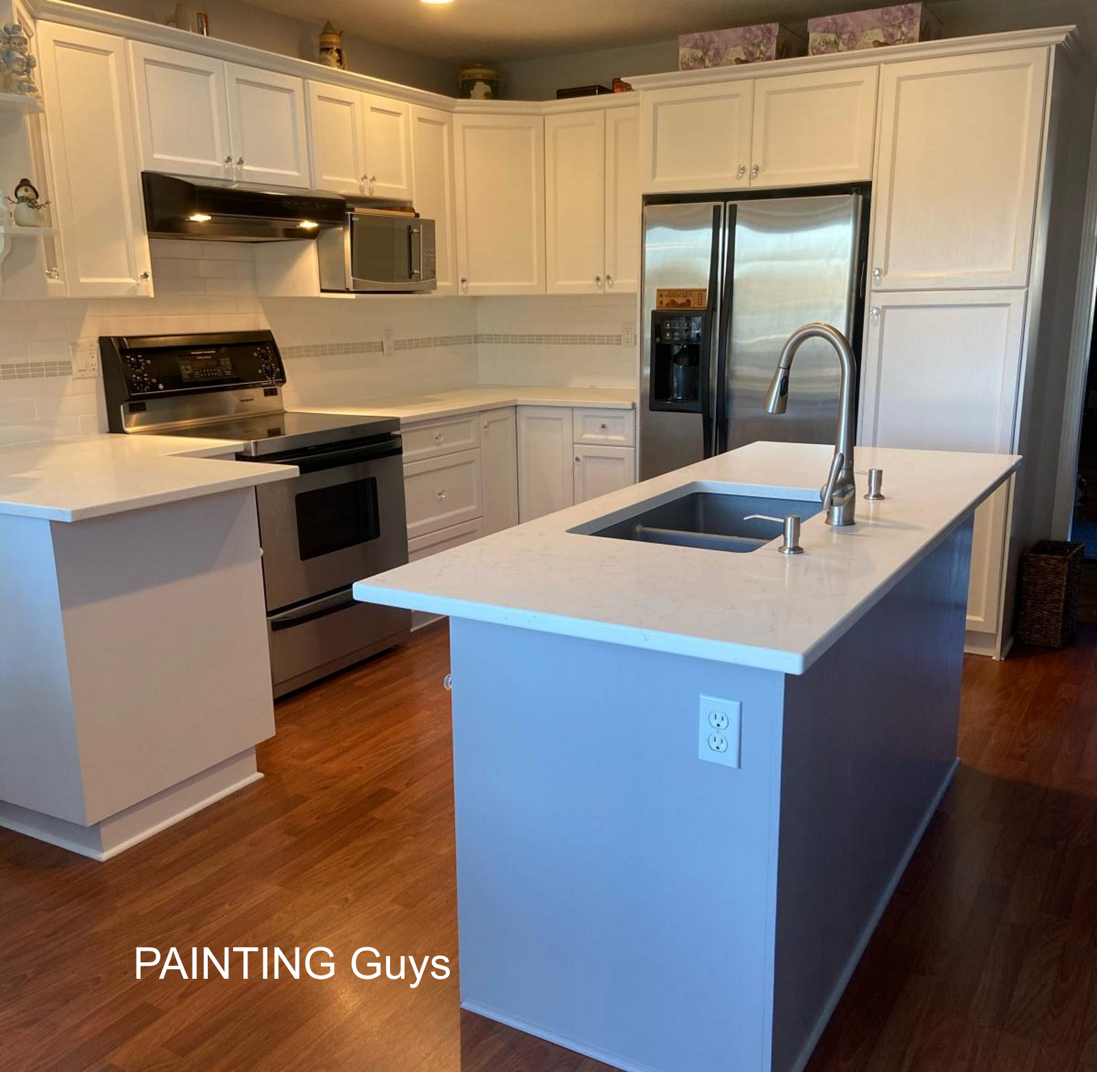 Nanaimo Kitchen cabinet painting. PAINTING Guys