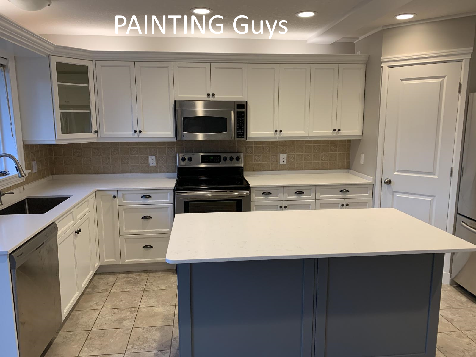 Nanaimo kitchen cabinet painting - PAINTING Guys