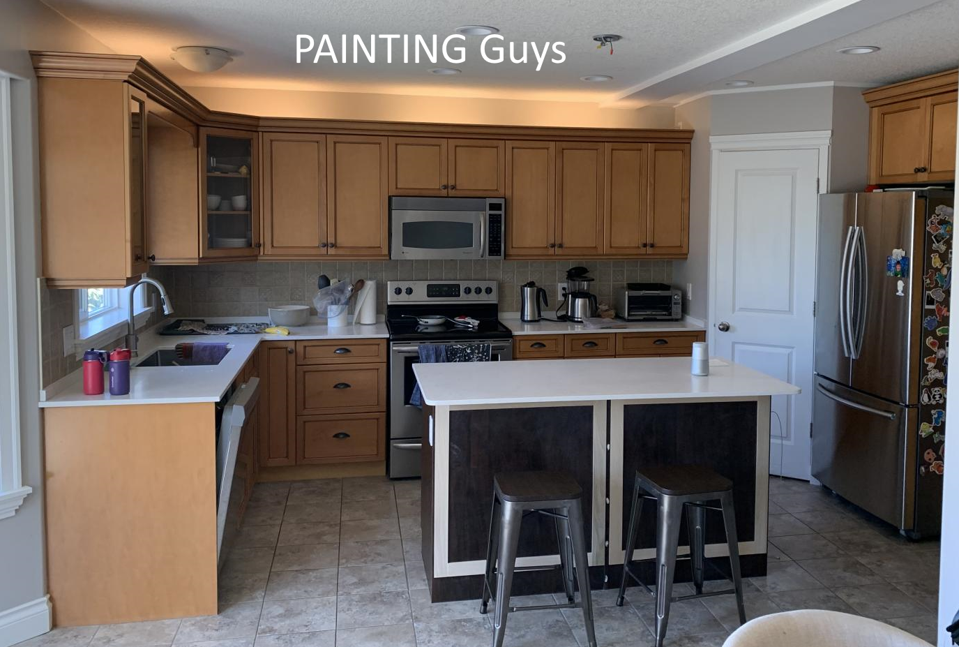 Nanaimo white kitchen cabinet painting PAINTING Guys