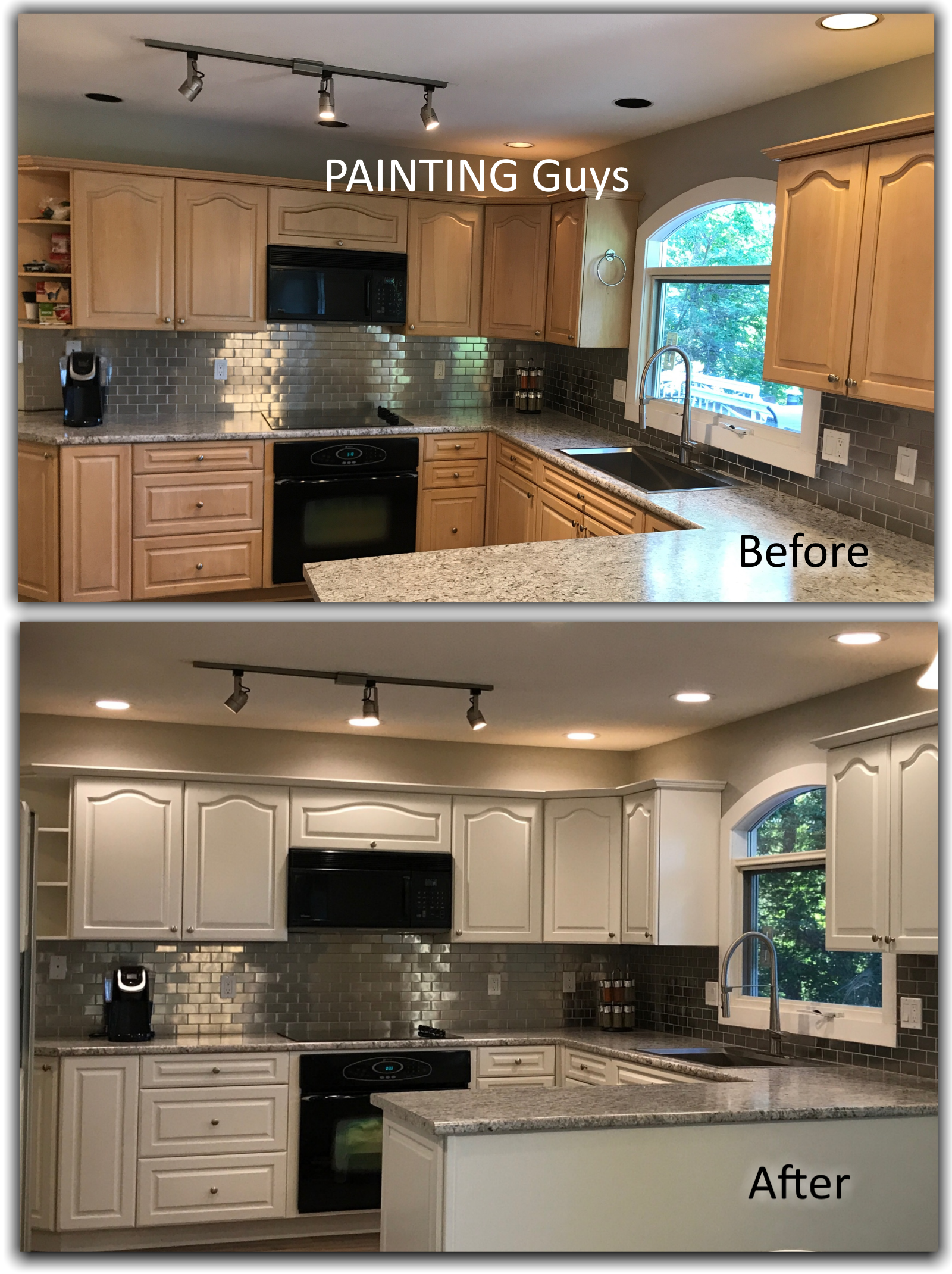 Admirable Kitchen Cabinet Painting Painting Guys Home Interior And Landscaping Palasignezvosmurscom