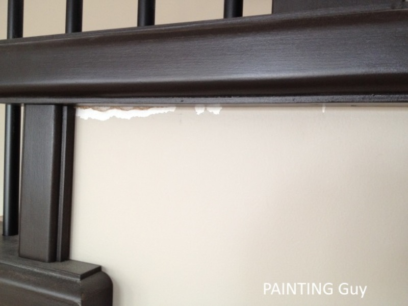 wall damges from railing install