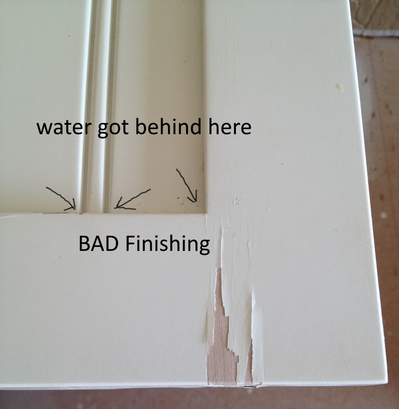 Water Damaged Cabinets Painting Guys
